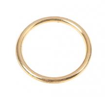 Кольцо круглое 25мм (золотое)