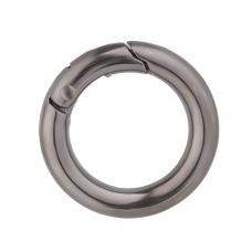 Кольцо-карабин (черное)