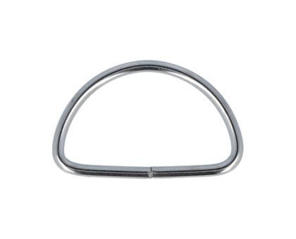 Полукольцо 20х12мм (серебряное)