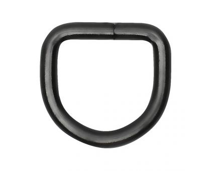 Полукольцо 20х20мм (черное)