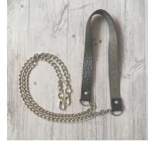 Ремень для сумки на цепочке (серый)