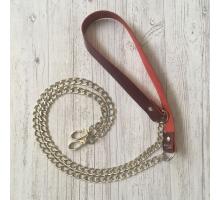 Ремень для сумки на цепочке (вишневый)