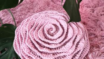 Подушка цветок