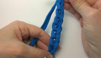 Базовые приемы вязания из трикотажной пряжи