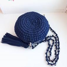 Круглая сумка из трикотажной пряжи