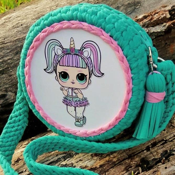 Детская трикотажная сумочка