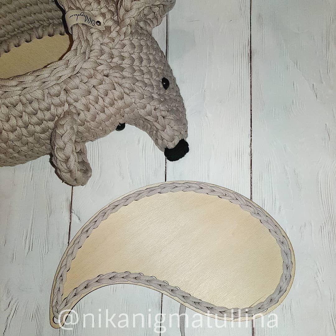 Корзинка из пряжи Мышь