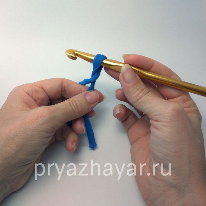 Вязание первой петли