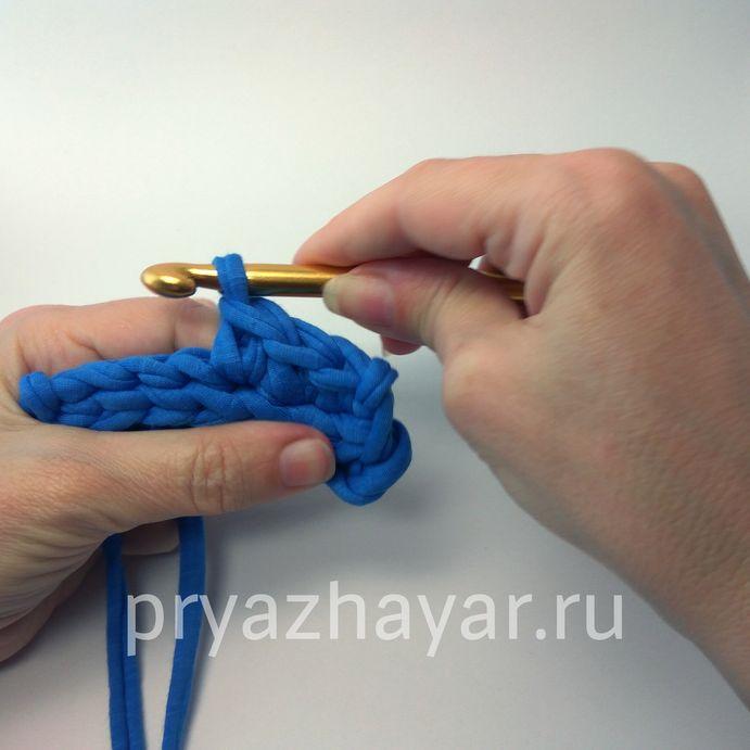 Вязание столбика без накида